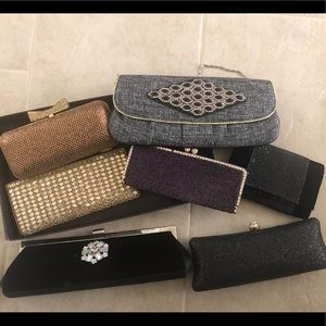 Handbags - 7 Boho clutches in excellent condition